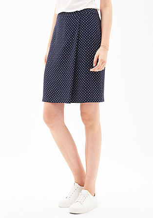 Wrap-effect crêpe skirt from s.Oliver