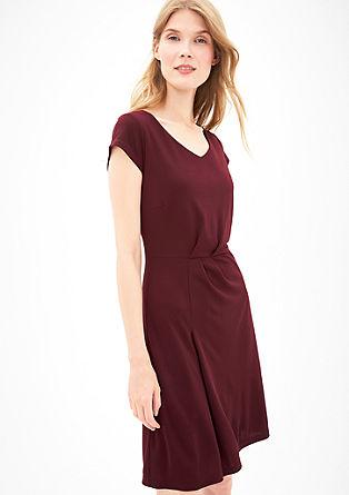 Jersey jurk met gedrapeerd effect