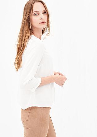 3/4-Arm-Bluse mit Biesen