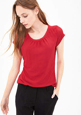 Short sleeve blouse with mesh details from s.Oliver