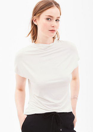 Viscose top with a turtleneck from s.Oliver