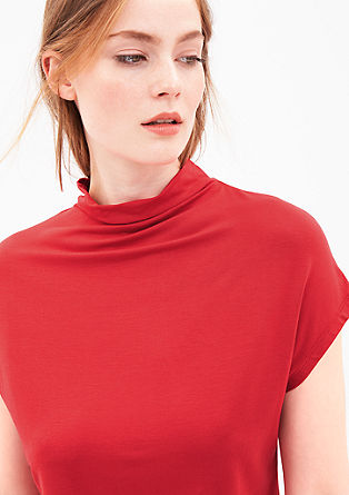 Viscose shirt met turtleneck