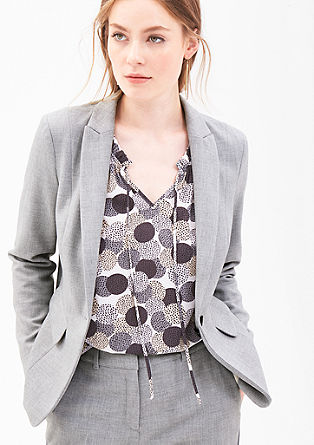 Simple piqué blazer from s.Oliver