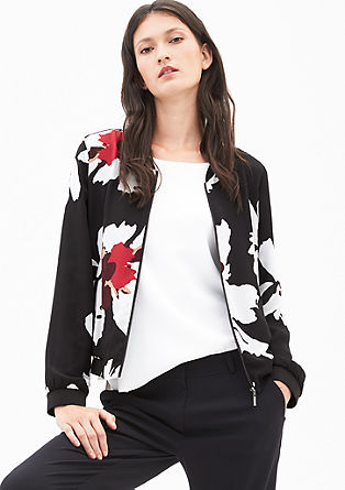Bomber blouse with a print from s.Oliver