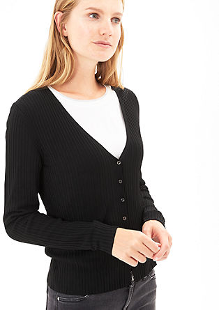 Ribbed cardigan from s.Oliver
