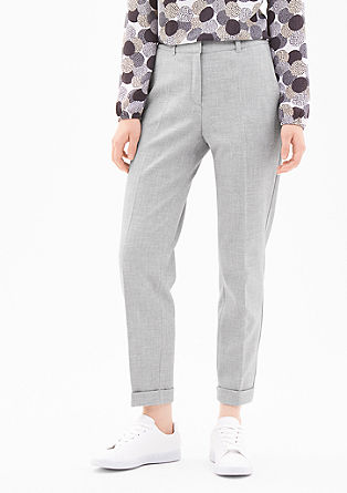 Rita Comfort: piqué trousers from s.Oliver