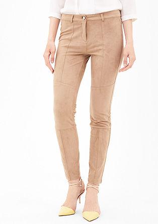 Trousers in a suede look from s.Oliver