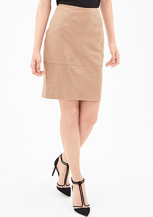 Faux suede skirt from s.Oliver