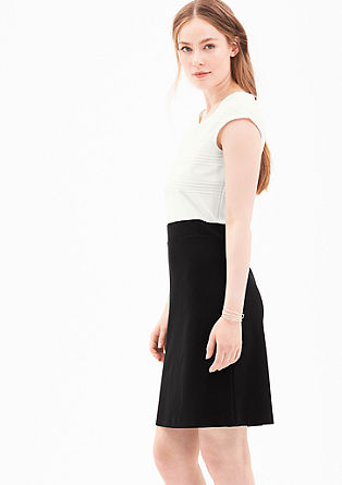 Stretch-Kleid im Two-Tone-Look