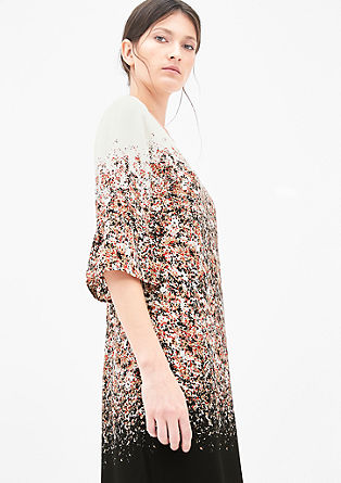 Blouse dress with an all-over print from s.Oliver