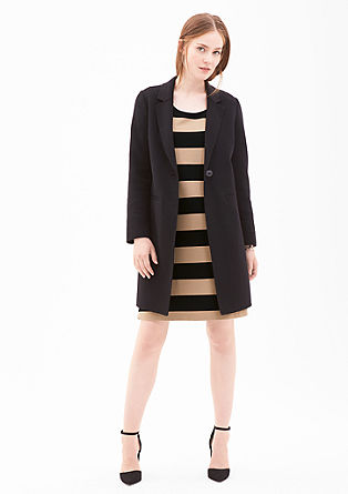 Stretch dress with jacquard stripes from s.Oliver