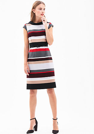 Colour block sheath dress from s.Oliver