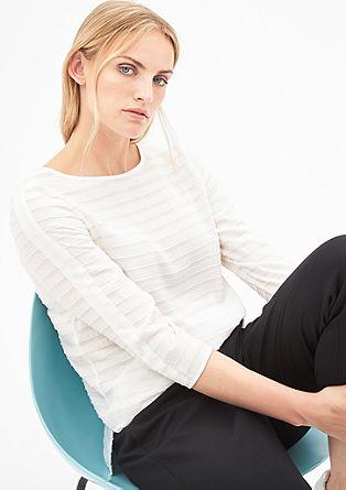 Bluza iz žakarda z različnimi teksturami