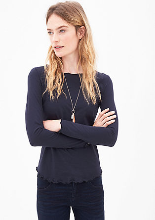 Long sleeve top with wavy edges from s.Oliver