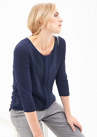 Blusenshirt mit Biesenblende