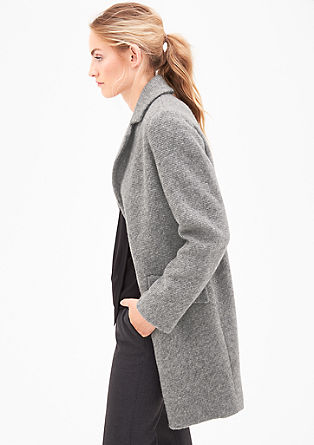Wool coat in a knit look from s.Oliver