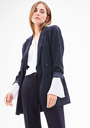 Long crêpe blazer from s.Oliver