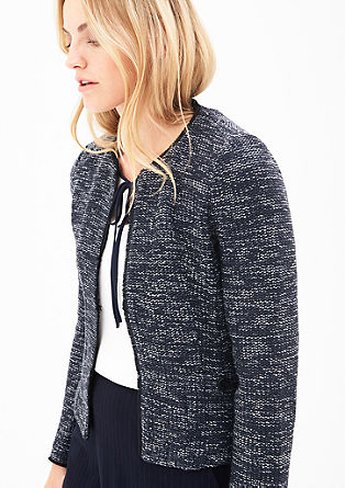 Blazerjacke in Bouclé-Optik