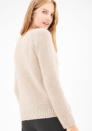 Hrubě pletený svetr s alpakou