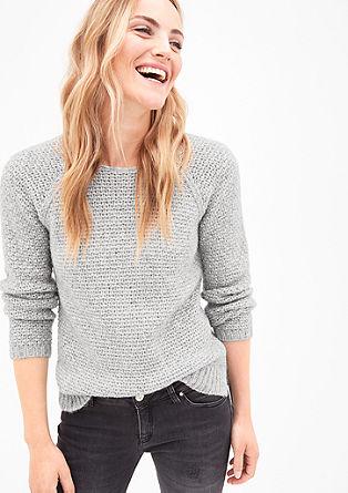 Grob pleten pulover z volno alpake