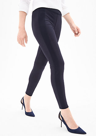 Leggings in Neopren-Optik