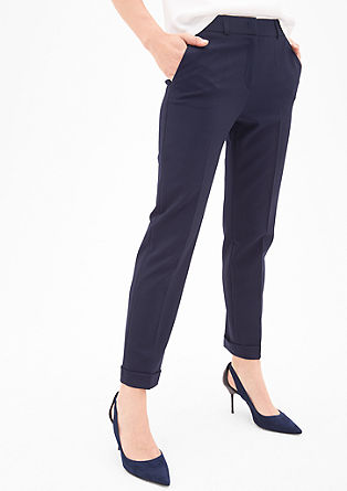 Rachel Straight: 7/8-length trousers from s.Oliver