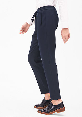 Waffle piqué trousers in a tracksuit style from s.Oliver