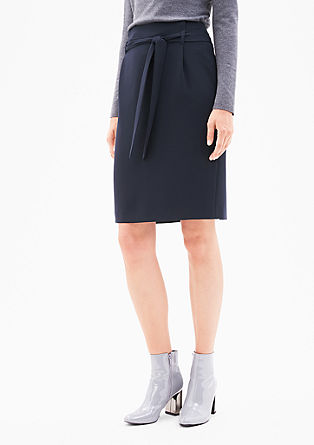 Elegant skirt with a tie-around belt from s.Oliver