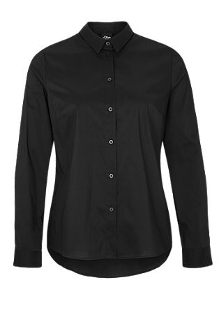 Poplin blouse with an inverted pleat from s.Oliver