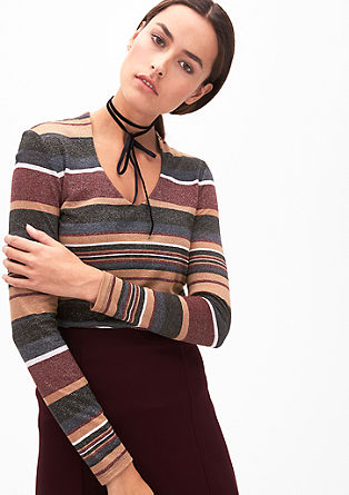 Striped top with a glitter effect from s.Oliver
