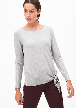 Long sleeve top with a knotted detail from s.Oliver