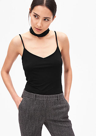 Strappy top with a smooth texture from s.Oliver