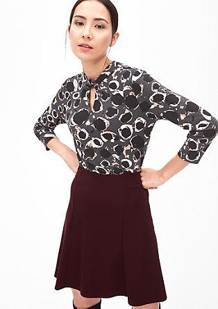 Shirt mit drapiertem Ausschnitt
