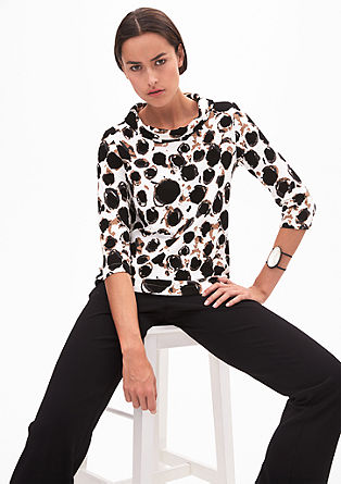 Stretch top with a turtleneck from s.Oliver