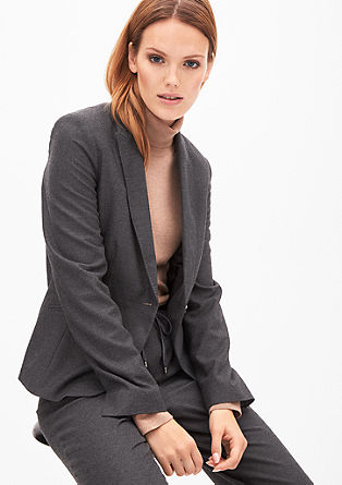 Melange flannel blazer from s.Oliver