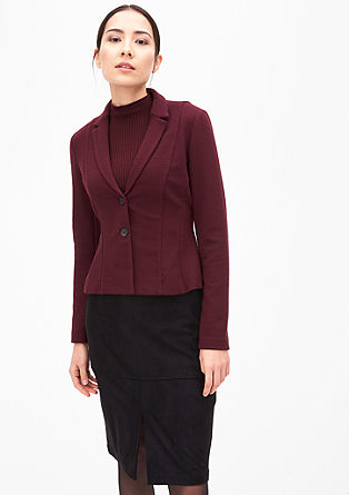 Fitted textured blazer from s.Oliver