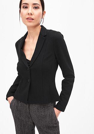 Taillierter Struktur-Blazer