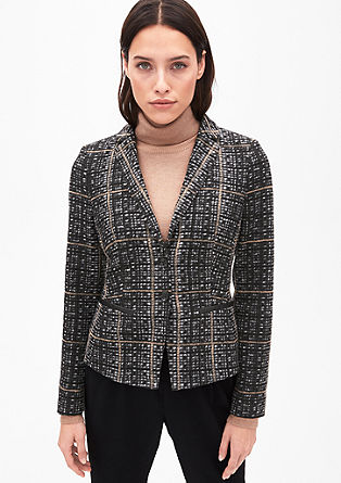Patterned blazer with a wool finish from s.Oliver