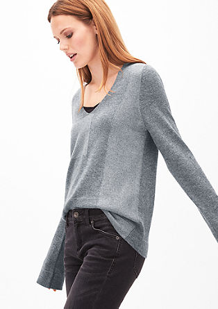 Wool jumper with a V-neckline from s.Oliver