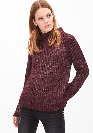 Glanzende trui van wolmix