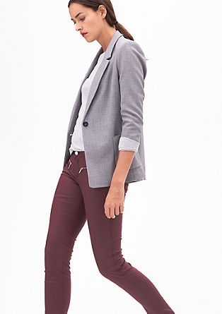Sienna Slim: Coated denim from s.Oliver