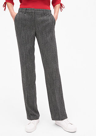 Charlotte Wide: herringbone trousers from s.Oliver
