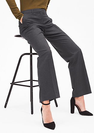 Rachel Straight: Straight flannel trousers from s.Oliver