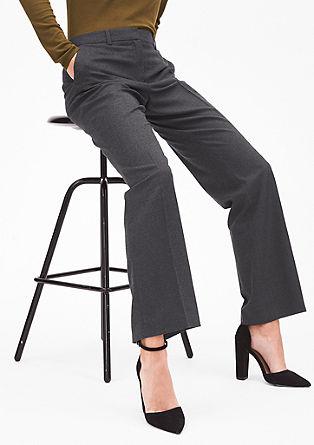 Rachel Straight: pantalon en flanelle de coupe droite de s.Oliver