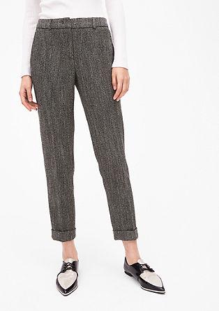 Rita Comfort: poslovne hlače z vzorcem ribje kosti