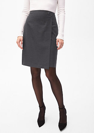 Flannel skirt in a wrap-over effect from s.Oliver