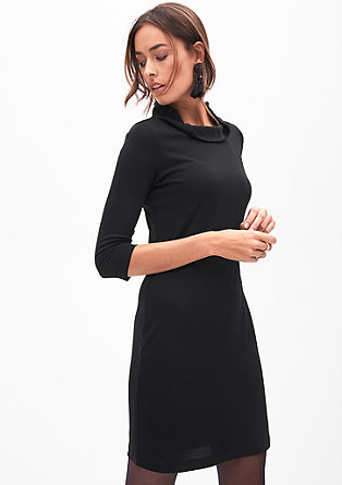 Jersey dress with a stand-up collar from s.Oliver