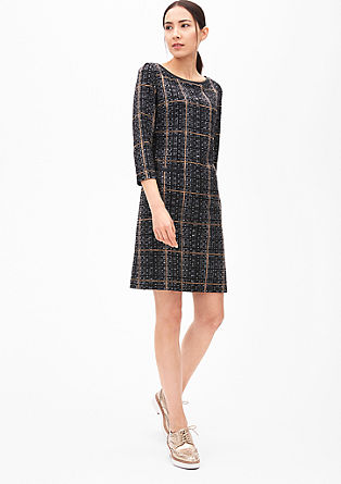 Patterned dress in a wool look from s.Oliver