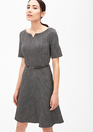 Woven dress in a herringbone design from s.Oliver