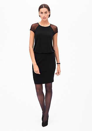 Short dress with mesh lace from s.Oliver